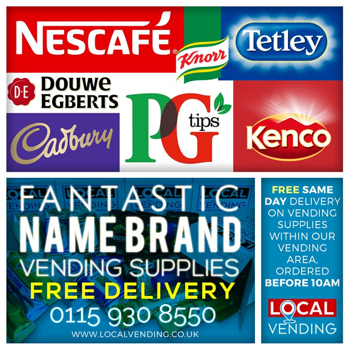 Name brand vending supplies